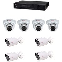 Cp Plus 04 Dome Camera  04 Bullet Cameras  + 08 Channel Dvr + Connectors + Power Supply + Wires Combo