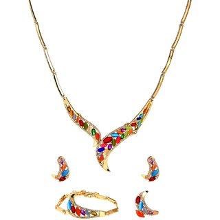 Ruhaani Jewels Alloy Jewel Set (Gold)