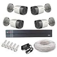 Cp Plus 04 Bullet  Camera  + 8 Channel Dvr + Connectors + Power Supply+ Wires Combo