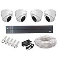 Cp Plus 4 Dome Camera  +4 Channel Dvr + Connectors + Power Supply + Wires Combo
