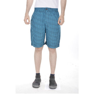 Fab-Rajasthan Blue Color Printed Cotton MenS Shorts
