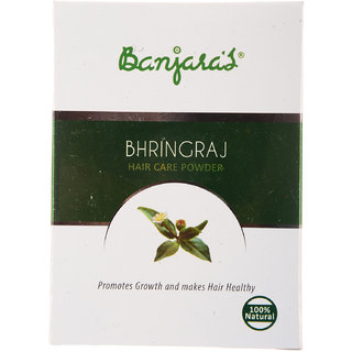 Banjaras Bhring Raj Hair Pack Powder 100G (5 Sachets Inside)