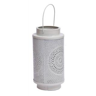 Sutra Decor Hanging White Metal Lantern