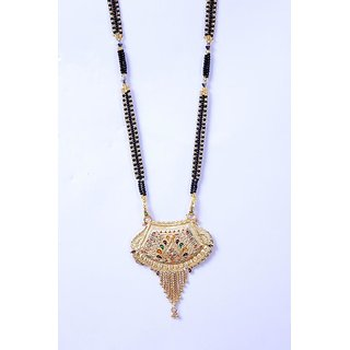 The Designer Gold Plated Golden Beaded chain Mangalsutra for Women