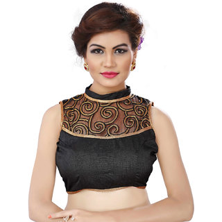 Ladies Flavour New Latest Neck Work Black Blouse