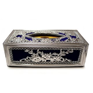 Auto Stylist Royal Blue Deluxe Tissue Box With Tissues