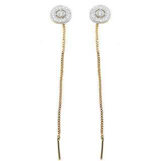 Waama Jewels Multi Cubic Zirconia Dangle  Drop Earring For Girls Office Wear Earring boho jewelry