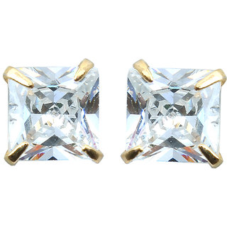 Waama Jewels Multi Cubic Zirconia Studs Earring for girl Party Wear Earring Anniversary Gift