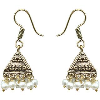 Waama Jewels white pearl Jhumki Earring for girl Wedding Earring Official Jewellery