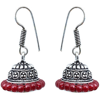 Waama Jewels Maroon pearl Jhumki Earring for girl Wedding Earring spiritual jewelry