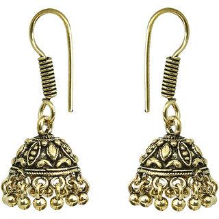 Waama Jewels Golden NA Jhumki Earring for womens Office Wear Earring Valentines Gift