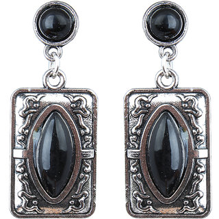 Waama Jewels Black Jasper Dangle  Drop Earring for Girl Festive Earring ethnic jewellery