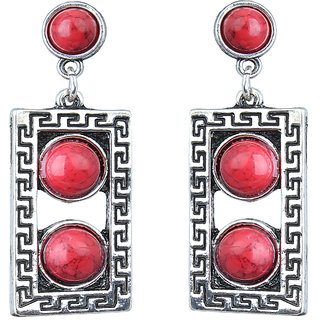 Waama Jewels Red Jasper Dangle  Drop Earring for Girl Festive Earring Gift For Wife