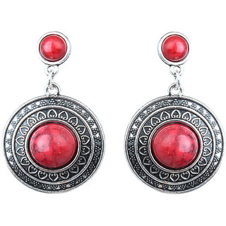 Waama Jewels Red Jasper Dangle  Drop Earring for Women Festive Earring Mothers Day Gift