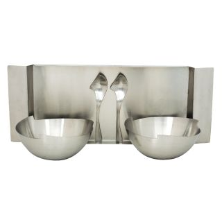 K.S Serving set with bowls plate and spoons in Stainless Steel