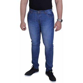TCG Light Blue Faded Comfort Fit Stretch Denim Jeans