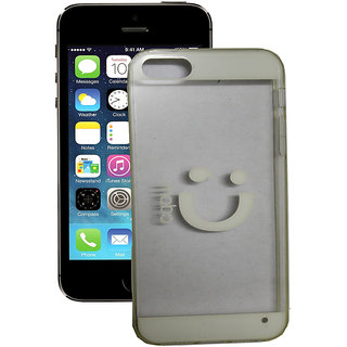 SCS Ipnone 5 Transprent back case( White)
