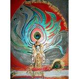 "Mural Of "" Krishna In Vishnu Avatar"""