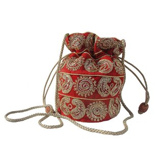 ALAR Handmade Potli Bag with Beadwork