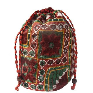 ALAR Handmade Potli Bag with Embroidery
