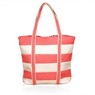 Katvon Womens Handbag red and cream YRS 0110A1