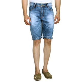 Studio Nexx Mens Denim Blue Shorts (Blue, Size - 30)