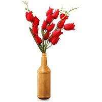 Bottle Vase In Golden Colour