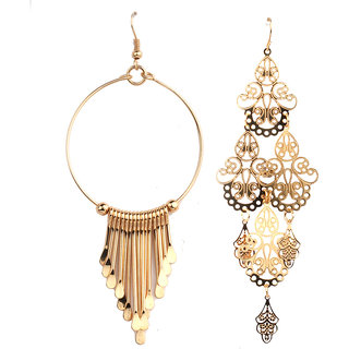Jazz Jewellery Huggies Gold Plated Combo Earrings Set