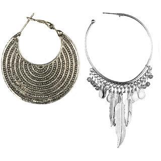 Jazz Jewellery Hoop or Huggies Silver Plated Circle Combo Earrings Set