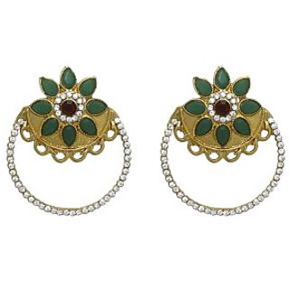La Trendz Ruby Greeen Ethnic  Earring  For Girls And Women