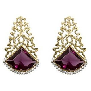 La Trendz Vine Stone Gold Plated Party Wear Earring For Girls And Women