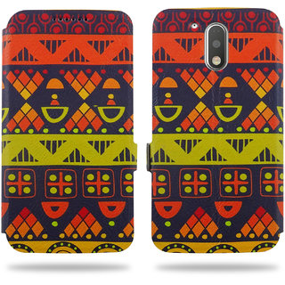 Cool Mango Ceego Printed Flip Cover for Moto G4 Plus / Moto G4 - 100 Premium Faux Leather Printed Flip Case for Moto G Plus / Moto G, 4th Gen with 360 Degree Stitching, Magnetic Lock, Card Currency Slot