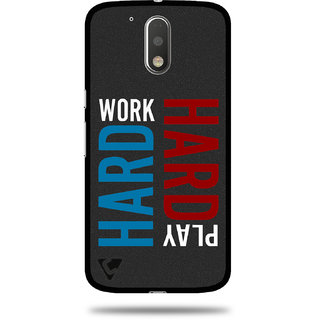 Cool Mango Ceego Printed Pudding PU Back cover for Moto G4 Plus / Moto G4 - Flexible Protection Case for Moto G Plus / Moto G, 4th Gen (Work Hard, Play Hard)