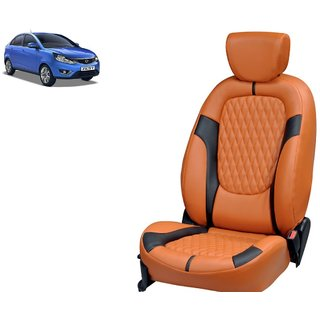 Tata Zest PU Leatherite Car Seat Cover PU0026 Available At
