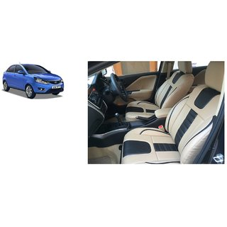 Tata Zest PU Leatherite Car Seat Cover PU0035 Available At