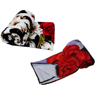 IndiWeaves Combo Offer of Micro Fiber Comforter Set for Double Bed with Micro Fiber Dohar for Double Bed (Pack Of 2)