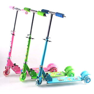 Kids Scooty Foldable 3 Wheels Mini Scooter For Children available at ShopClues for Rs.2515