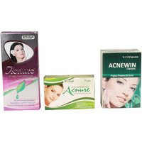 Herbal Kit For Anti Ageing, Dark Spots, Acne, Scars, Pimples, Dark Circles, Blackheads and Wrinkles - 100  Effective