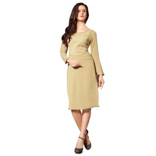 1 Stop Fashion Fabulous Pleats and Designer Button Work Georgette Kurti