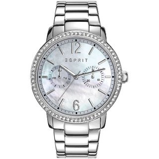 Esprit Kate WomenS Quartz Watch With Mother Of Pearl Dial Analogue Display And Silver Stainless Steel Bracelet Es108092001