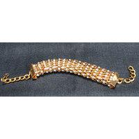 Golden Snake Stone Bracelet