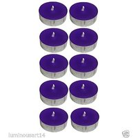 Scented Purple Tealight T-Lite Candles Smokeless Candle For Diwali Birthday Party Gift Christmas Candle Lighting Lamp Pack Of 40