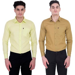 LONDON LOOKS MULTI COLOUR FORMAL SHIRTS ( COMBO OF 2 )