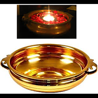 Traditional Brass Urli Decorative Bowl Flowers Vase Candles Table Top Showpieces 6