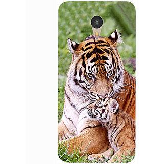 Casotec Tiger Design 3D Printed Hard Back Case Cover for Yu Yunicorn