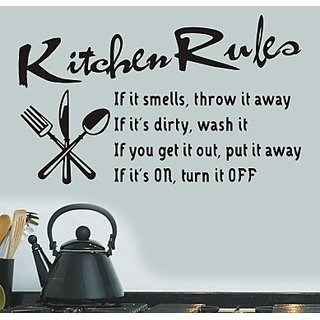 Kitchen Rules Letter Removable Vinyl Wall Stickers Mural Decal Home 23