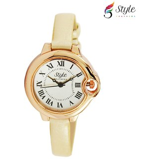 Style Feathers SF Round Pink 001 Analog Watch - For Women