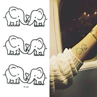 ELEPHANTS LOVE TEMPORARY TATTOO 1 PC