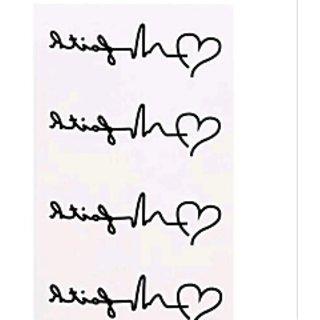 Heart Shape Temporary Tatto