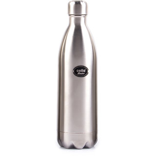 Cello Swift Steel Flask (1000 ml) Silver